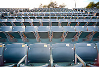 STANFORD, CA - April 14, 2011: Grandstand seats at the Taube Family Tennis Center on Stanford's campus.
