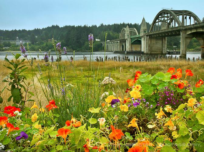 Suislaw River Bridge, Florence, Oregon Coast