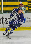 14 February 2015: University of New Hampshire Wildcat Forward Haley Breedlove, a Junior from Plano, Texas, in first period action against the University of Vermont Catamounts at Gutterson Fieldhouse in Burlington, Vermont. The Ladies played to a 3-3 tie in their final meeting of the NCAA Hockey East season. Mandatory Credit: Ed Wolfstein Photo *** RAW (NEF) Image File Available ***
