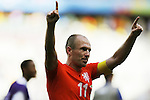 Arjen Robben (NED), JUNE 29, 2014 - Football / Soccer : Robben celebrate after winning FIFA World Cup Brazil<br /> match between Netherlands and Mexico at the Castelao stadium in Fortaleza, Brazil. (Photo by AFLO)