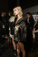 Zadig &amp; Voltaire 12/02/2018<br /> Model : Hailey Baldwin<br /> Backstage, New York Fashion Week FW18 <br /> New York Fashion Week,  New York, USA in February 2018.<br /> CAP/GOL<br /> &copy;GOL/Capital Pictures<br /> Zadig &amp; Voltaire 12/02/2018<br /> Model : Hailey Baldwin<br /> Backstage, New York Fashion Week FW18 <br /> <br /> New York Fashion Week,  New York, USA in February 2018.<br /> CAP/GOL<br /> &copy;GOL/Capital Pictures /MediaPunch ***NORTH AND SOUTH AMERICAS ONLY***