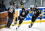 Stockholm 2014-12-01 Ishockey Hockeyallsvenskan AIK - S&ouml;dert&auml;lje SK :  <br /> AIK:s Christian Sandberg firar sitt 2-1 m&aring;l under matchen mellan AIK och S&ouml;dert&auml;lje SK <br /> (Foto: Kenta J&ouml;nsson) Nyckelord:  AIK Gnaget Hockeyallsvenskan Allsvenskan Hovet Johanneshov Isstadion S&ouml;dert&auml;lje SSK jubel gl&auml;dje lycka glad happy