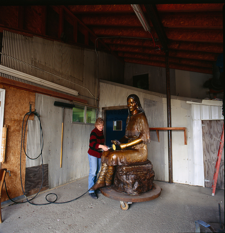 Valley Bronze Studio in Joseph, Oregon.<br />