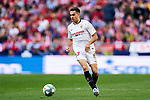 Sergio Reguilon of Sevilla  during La Liga match between Atletico de Madrid and Sevilla FC at Wanda Metropolitano Stadium in Madrid, Spain. March 07, 2020. (ALTERPHOTOS/A. Perez Meca)