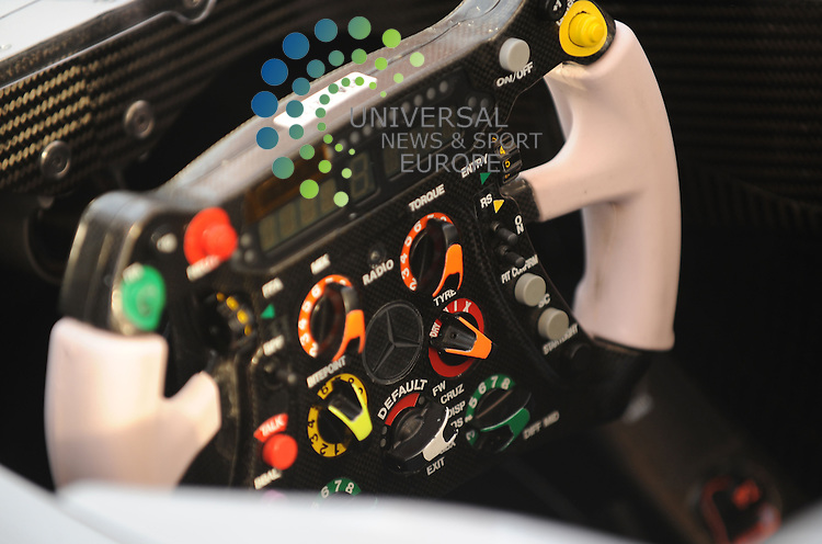 F1 GP Bahrain, Manama 12. - 14. March 2010. Michael Schumacher (GER), Mercedes GP steering wheel..Picture: Hasan Bratic/Universal News And Sport (Europe) 11 March 2010.