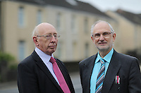 Pictured L-R: David Edwards and John Warman Monday 24 October 2016<br /> Re: Communities First funding at the MCC Melin Advice Centre in Neath, Wales, UK.