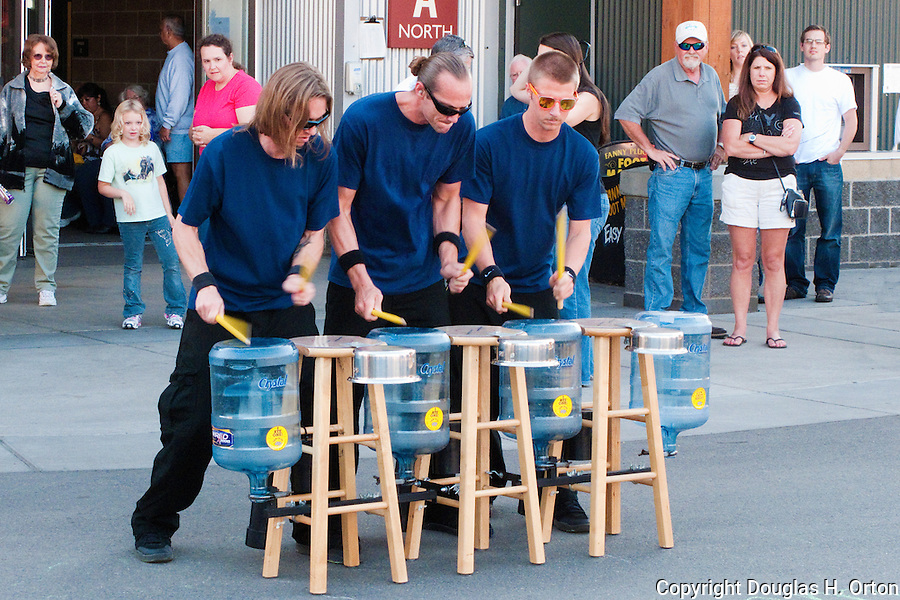 Street acts like this bring excitement to fairgoers at The Puyalup Fair.  Western Washington State Fair.