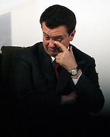 SÃO PAULO, SP, 12 DE JANEIRO 2012 - DILMA ROUSSEFF EM SÃO PAULO - O prefeito de Sao Paulo Gilberto Kassab durante cerimônia de assinatura do termo de adesão ao programa Minha Casa, Minha Vida pelo Governo do Estado de São Paulo e do termo de compromisso para a construção de 97 mil unidades habitacionais da faixa I no Palacio dos Bandeirantes região sul da capital paulista. FOTO: WILLIAM VOLCOV - NEWS FREE