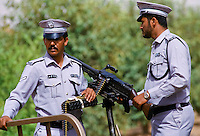 Anti-terrorist security at parade of armed forces in Abu Dhabi, United Arab Emirates
