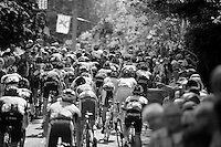peloton up the infamous Mur de Huy (max 17%)<br /> <br /> La Flèche Wallonne 2014