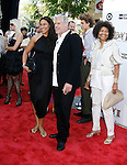 """Actor Ron Perlman and family arrive at the 2008 Los Angeles Film Festival's """"HellBoy: II The Golden Army"""" Premiere at the Mann Village Westwood Theater on June 28, 2008 in Westwood, California."""