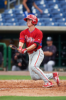 Philadelphia Phillies Lucas Williams (12) during an instructional league game against the New York Yankees on September 29, 2015 at Brighthouse Field in Clearwater, Florida.  (Mike Janes/Four Seam Images)