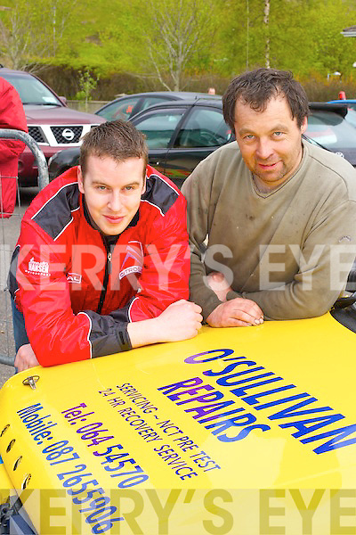 Revving in up at the Rally of the Lakes on Friday were Brendan O'Mahony Killarney (left) and Tom O'Sullivan Glenflesk..   Copyright Kerry's Eye 2008