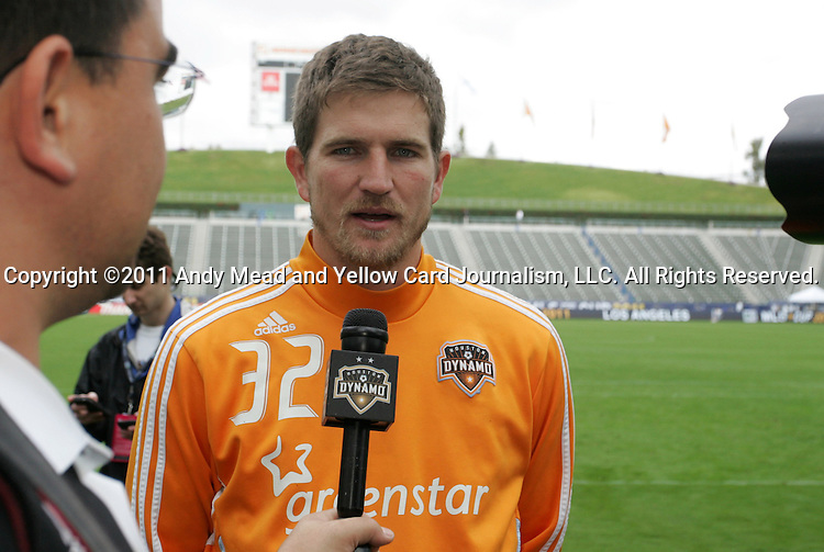 19 November 2011: Bobby Boswell. The Houston Dynamo held a practice session at the Home Depot Center in Carson, CA one day before playing in MLS Cup 2011.