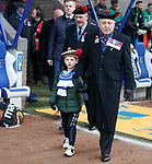 09.11.2019 St Johnstone v Hibs: Veterans and kids pre match for Remembrance weekend