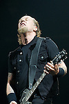 """Metallica perform during their 2008 - 2009 """"Death Magnetic Tour,"""" promoting their newest album of the same name, Dec. 2, 2008 at General Motors Place in Vancouver. (Scott Alexander/pressphotointl.com)"""