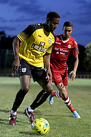 Giani Ashley of Margate and George Saunders of Hornchurch during Hornchurch vs Margate, BetVictor League Premier Division Football at Hornchurch Stadium on 13th August 2019