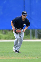 New York Yankees Mark Payton (33) during practice before a minor league spring training game against the Toronto Blue Jays on March 24, 2015 at the Englebert Complex in Dunedin, Florida.  (Mike Janes/Four Seam Images)