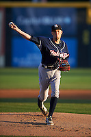 New Hampshire Fisher Cats starting pitcher Casey Lawrence (26) delivers a pitch during a game against the Harrisburg Senators on July 21, 2015 at Metro Bank Park in Harrisburg, Pennsylvania.  New Hampshire defeated Harrisburg 7-1.  (Mike Janes/Four Seam Images)