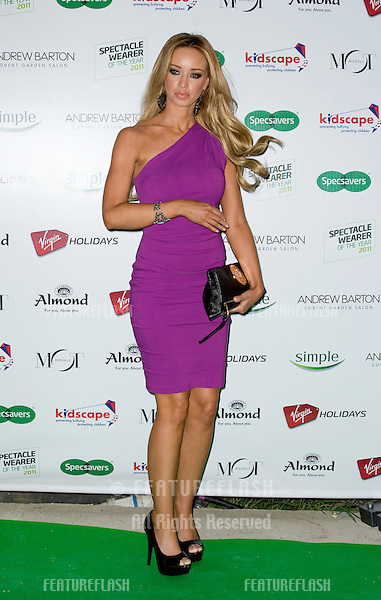 Lauren Pope arriving for the Spectacle Wearer of the Year 2011 Awards, London. 16/11/2011  Picture by: Simon Burchell / Featureflash