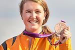 Engeland, London, 10 augustus 2012.Olympische Spelen London.BMX Laura Smulders uit nederland wint het Brons