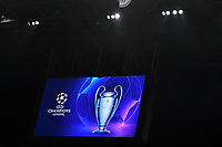 The logo and the champions league trophy are viewed on the display <br /> Milano 19/02/2020 Stadio San Siro <br /> Football Champions League 2019/2020 <br /> Round of 16 1st leg <br /> Atalanta - Valencia <br /> Photo Andrea Staccioli / Insidefoto