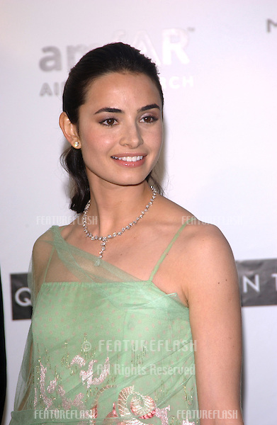 Actress MIA MAESTRO at the amfAR Cinema Against AIDS Gala at Le Moulins de Mougins restaurant, Mougins, France..May 20, 2004