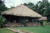 Interpretive Centre at the Biotopo Chocon Machacas manatee reserve on the Rio Dulce, Guatemala