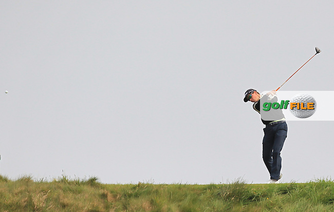 Loris Schuepbach (SWI) on the 14th tee during Round 2 of the Flogas Irish Amateur Open Championship at Royal Dublin on Friday 6th May 2016.<br /> Picture:  Thos Caffrey / www.golffile.ie