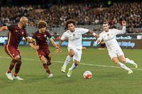 Melbourne, 18 July 2015 - Marcelo Vieira of Real Madrid controls the ball in game one of the International Champions Cup match at the Melbourne Cricket Ground, Australia. Roma def Real Madrid 7-6 Penalties. Photo Sydney Low/AsteriskImages.com
