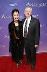 Lynn Ahrens and husband attend Broadway Opening Night performance of 'Anastasia' at the Broadhurst Theatre on April 24, 2017 in New York City.