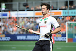 NED - Amsterdam, Netherlands, August 20: During the men Pool B group match between Germany (white) and Ireland (green) at the Rabo EuroHockey Championships 2017 August 20, 2017 at Wagener Stadium in Amsterdam, Netherlands. Final score 1-1. (Photo by Dirk Markgraf / www.265-images.com) *** Local caption *** Lukas Windfeder #4 of Germany