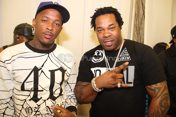 LOS ANGELES, CA - JUNE 28, 2014<br /> YG &amp; Busta Rhymes attend the BET Radio Forum at the JW Marriot Hotel June 28, 2014 in Los Angeles, CA<br /> &copy;Walik Goshorn / MediaPunch