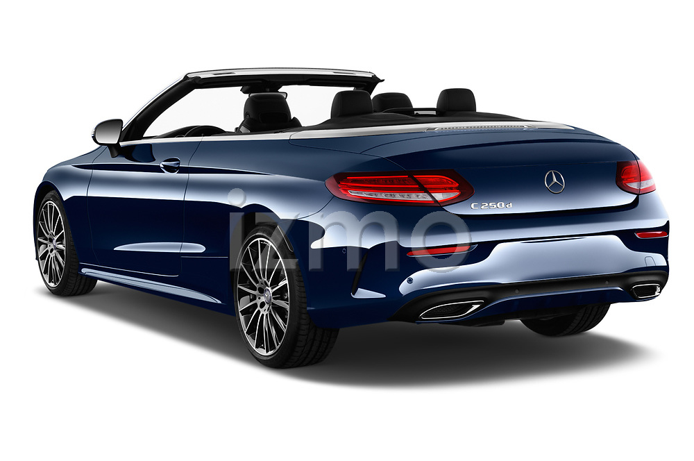 Car pictures of rear three quarter view of 2017 Mercedes Benz C-Class AMG-Line 2 Door convertible Angular Rear