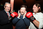 Joe Lynch, Mark Markey and Norm Hendy at the Launch of the White Collar Boxing Event...Picture Jenny Matthews/Newsfile.ie