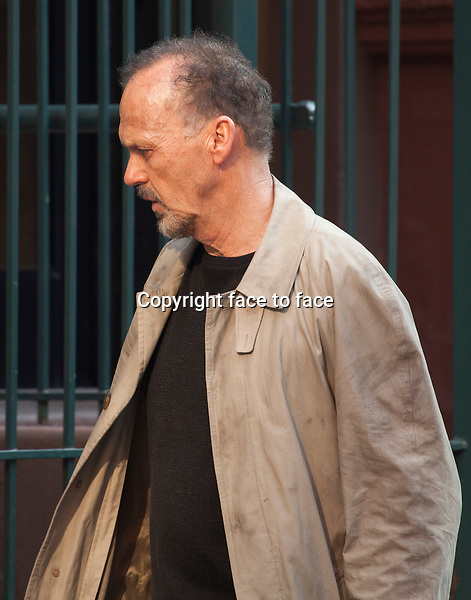 NEW YORK, NY - MAY 30: Michael Keaton filming on the set of 'Birdman' on May 30, 2013 in New York City.<br /> <br /> Credit: MediaPunch/face to face<br /> - Germany, Austria, Switzerland, Eastern Europe, Australia, UK, USA, Taiwan, Singapore, China, Malaysia, Thailand, Sweden, Estonia, Latvia and Lithuania rights only -