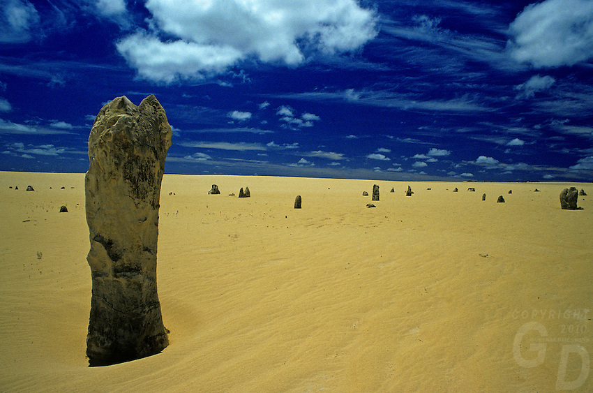 The Pinnacles in Nambung National Park interesting to know that they remained unknown to most Australians until the 1960s, when the area was dismissed to Nambung National Park.