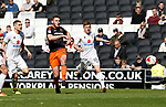 Jack O'Connell of Sheffield Utd tries a shot on goal during the English League One match at  Stadium MK, Milton Keynes. Picture date: April 22nd 2017. Pic credit should read: Simon Bellis/Sportimage
