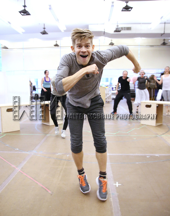Andrew Keenan-Bolger during the 'Tuck Everlasting' press sneak peek at the New 42nd Street studios on February 29, 2016 in New York City.