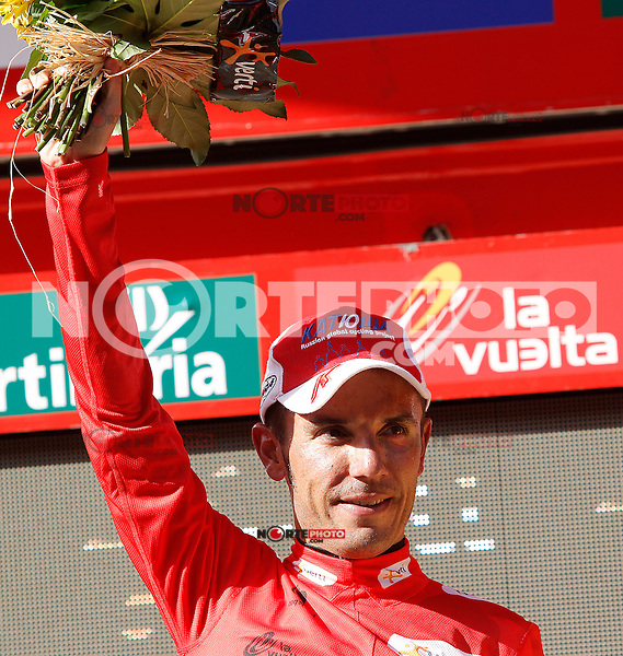 Joaquin Purito Rodriguez with the leader's red jersey after the stage of La Vuelta 2012 between Logroño and Logroño.August 22,2012. (ALTERPHOTOS/Acero) /NortePhoto.com<br />
