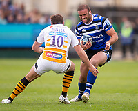 Bath Rugby's Jamie Roberts in action during todays match<br /> <br /> Photographer Bob Bradford/CameraSport<br /> <br /> Premiership Rugby Cup - Bath Rugby v Wasps - Sunday 5th May 2019 - The Recreation Ground - Bath<br /> <br /> World Copyright © 2018 CameraSport. All rights reserved. 43 Linden Ave. Countesthorpe. Leicester. England. LE8 5PG - Tel: +44 (0) 116 277 4147 - admin@camerasport.com - www.camerasport.com