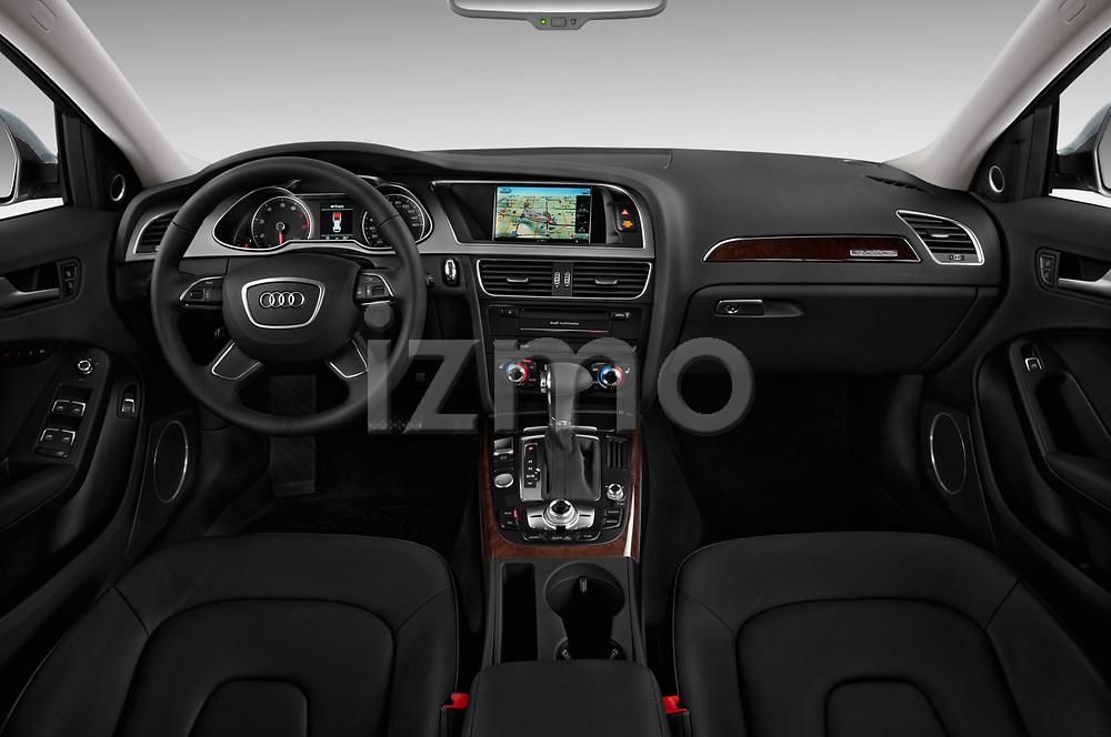 Stock photo of straight dashboard view of 2013-2016 Audi A4 Allroad Premium Quattro 4 Door Wagon