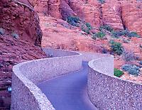 Ramp leading to the Chapel of the Holy Cross. Sedona, Arizona