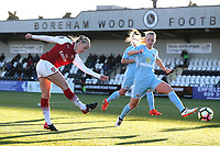 Beth Mead of Arsenal goes close to a goal during Arsenal Women vs Sunderland AFC Ladies, FA Women's Super League FA WSL1 Football at Meadow Park on 12th November 2017