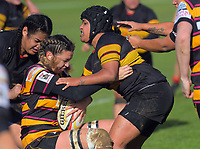 Action from the Waikato premier women's club rugby match between University and Taupiri at University Of Waikato in Hamilton, New Zealand on Saturday, 8 June 2019. Photo: Dave Lintott / lintottphoto.co.nz