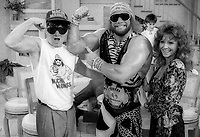 Regis Philbin Macho Man RAndy Savage MIss Elizabeth 1986<br /> Photo by Adam Scull/PHOTOlink.net