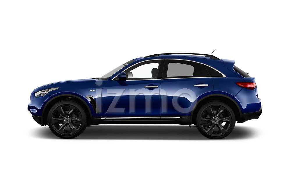 Car driver side profile view of a 2018 Infiniti QX70 S 5 Door SUV