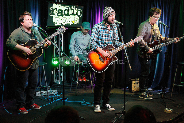 BALA CYNWYD, PA - FEBRUARY 12 :  Fiction Family visits Radio 104.5 iHeart Radio Performance Theater in Bala Cynwyd, Pa on February 12, 2013  © Star Shooter / MediaPunch Inc