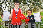 Boxing Winners: Thomas O'Sullivan, Ballyduff  Boxing Club who won a gold medal in the Boy 3 66kg category and Spencer Neill, Listowe lTrojan Boxing Club who a gold medal in the Boy 1 48kg in the Munster Championships held in Killmallock last Sunday. Both boys will go on to take part in the national Championships to be held in the National Stadium in April.