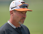 Waterloo head baseball coach Mark Vogel at the Class 3A Salem baseball sectional championship game at Salem HS in Salem, IL on Saturday June 1, 2019.<br /> Tim Vizer/Special to STLhighschoolsports.com